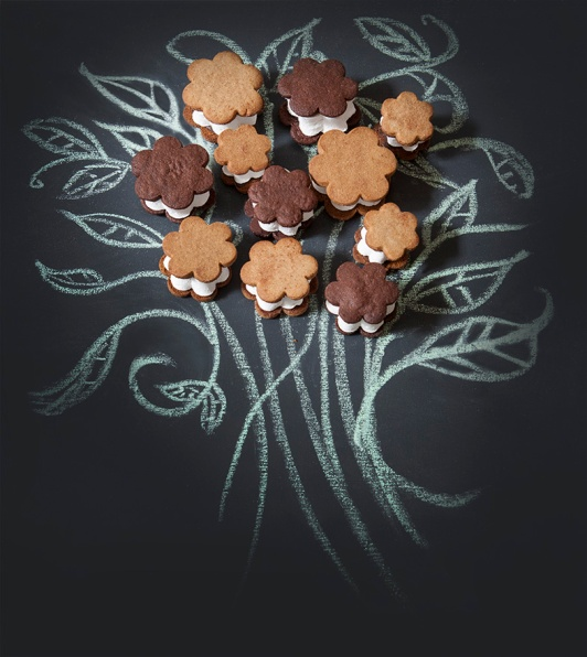 Flower shaped s'mores: 3 for $15 ( single flavor)